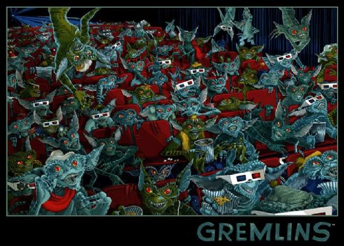 1980's Movie - GREMLINS - CINEMA TRIP canvas print - self adhesive poster - photo print